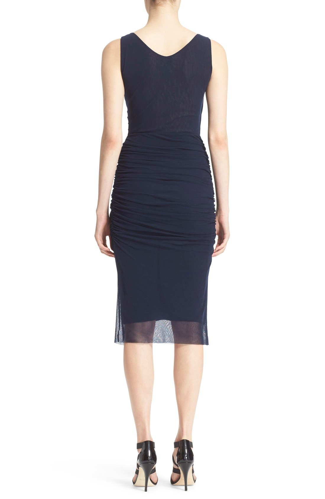 Alternate Image 2  - Fuzzi Ruched Tulle Mesh Dress