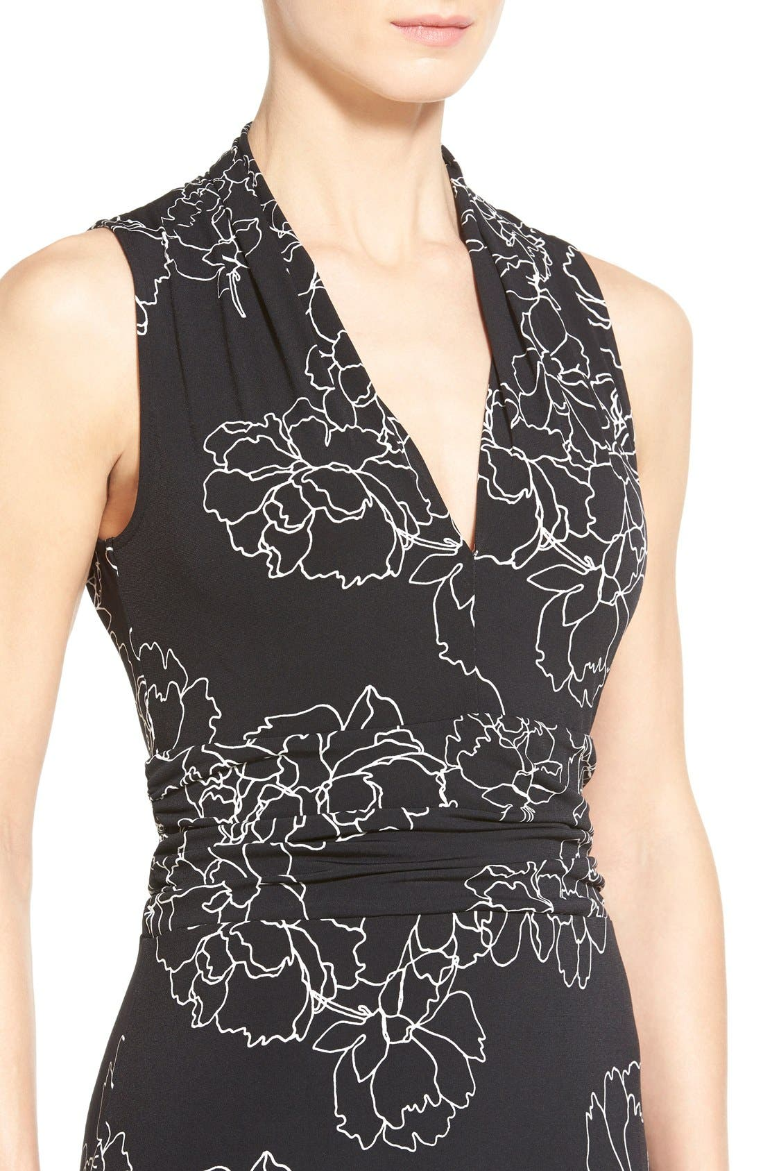 Alternate Image 4  - Vince Camuto Floral Print Jersey Maxi Dress (Regular & Petite)