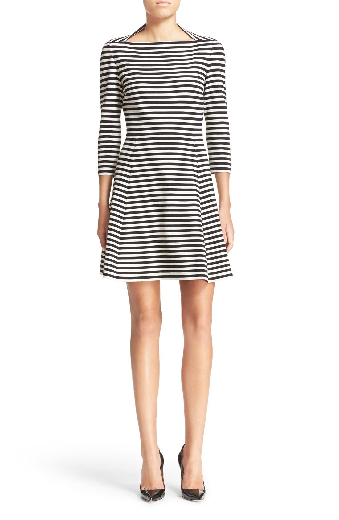 KATE SPADE NEW YORK stripe fit & flare