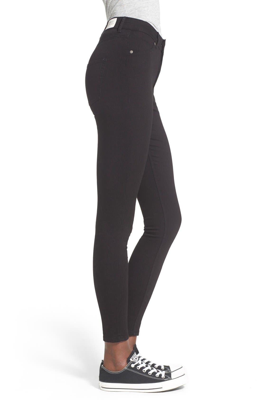 Alternate Image 3  - Cheap Monday High Rise Super Skinny Jeans (Black)