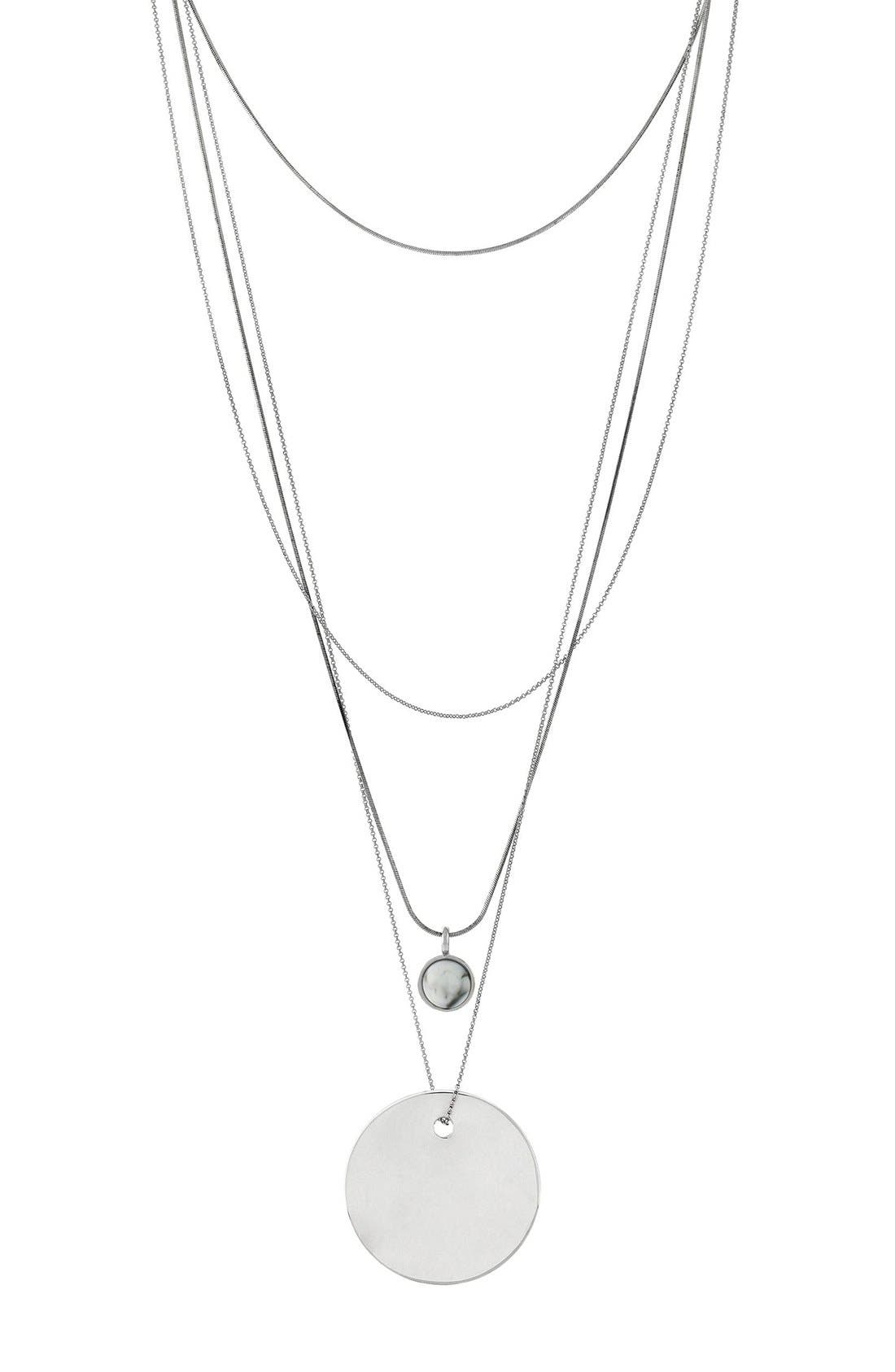 Alternate Image 1 Selected - Vince Camuto Multistrand Pendant Necklace