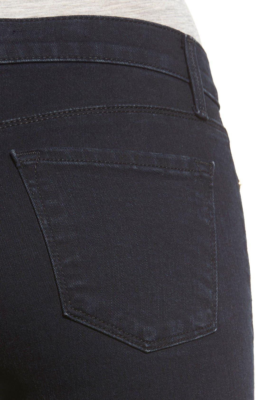 Alternate Image 4  - J Brand Destroyed Crop Skinny Jeans (Blue Mercy)