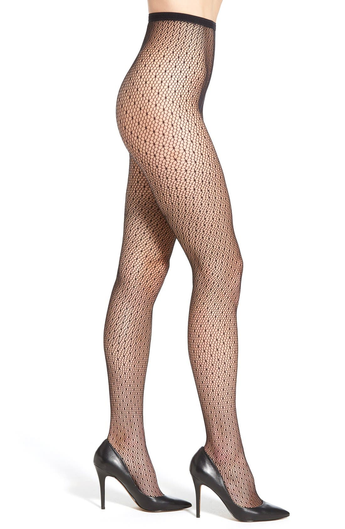 Alternate Image 1 Selected - DKNY 'Spring' Floral Lace Tights