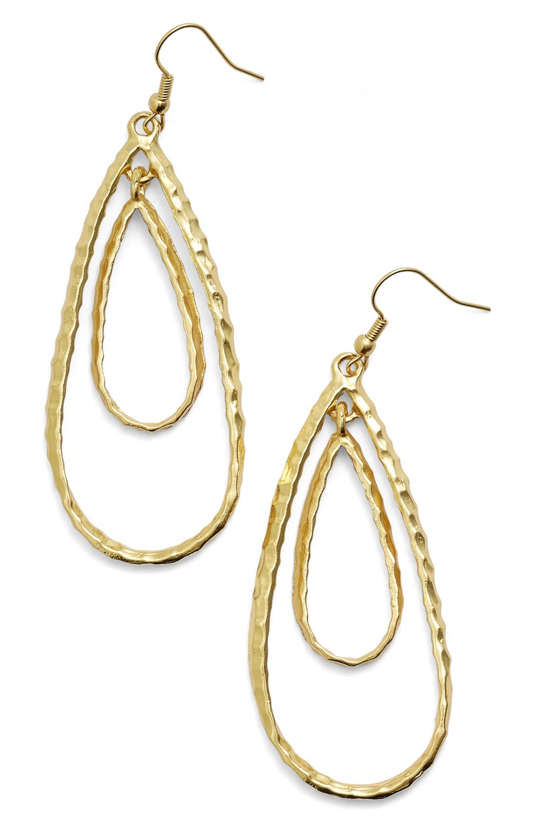 KARINE SULTAN Double Teardrop Link Drop Earrrings