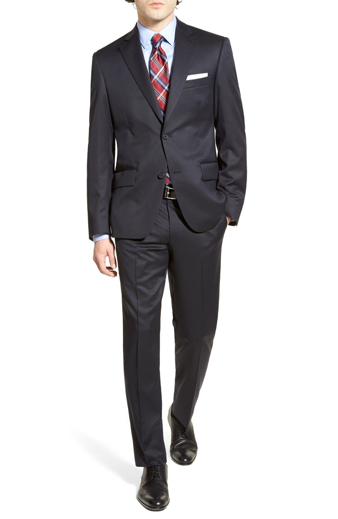 Alternate Image 4  - Nordstrom Men's Shop Flat Front Wool Trousers