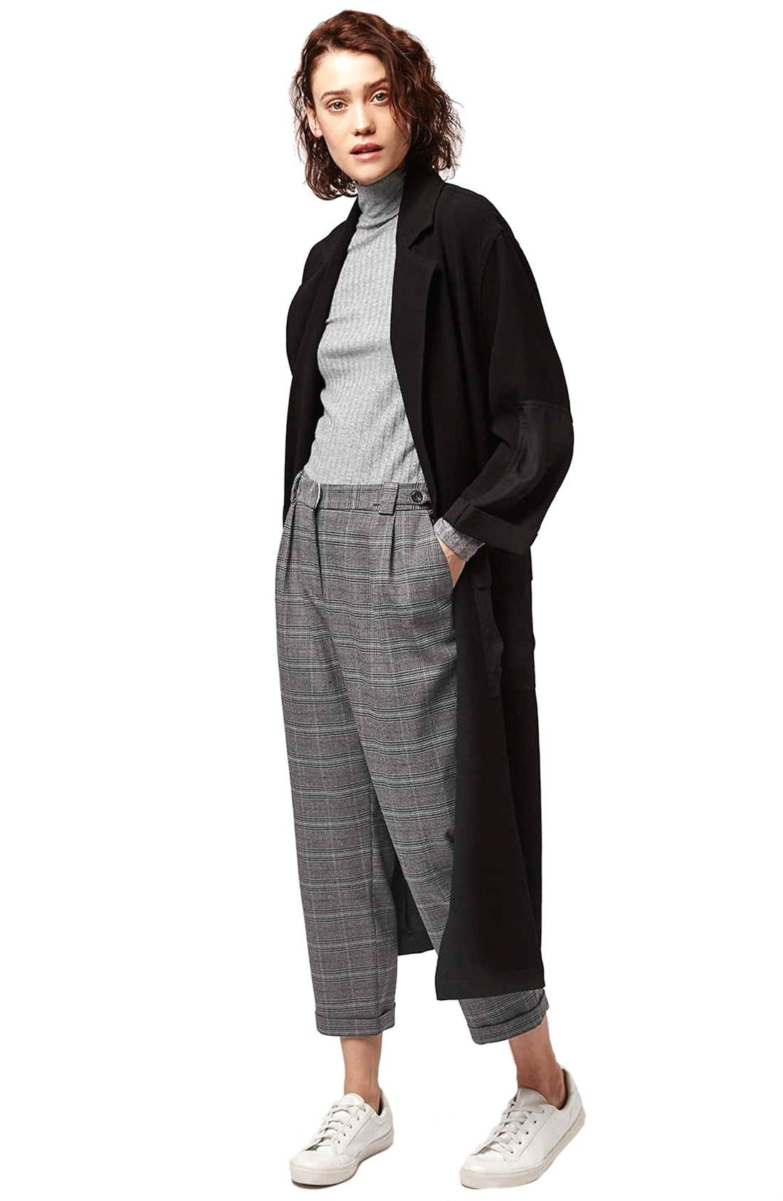 Alternate Image 2  - Topshop Check Crop Pants