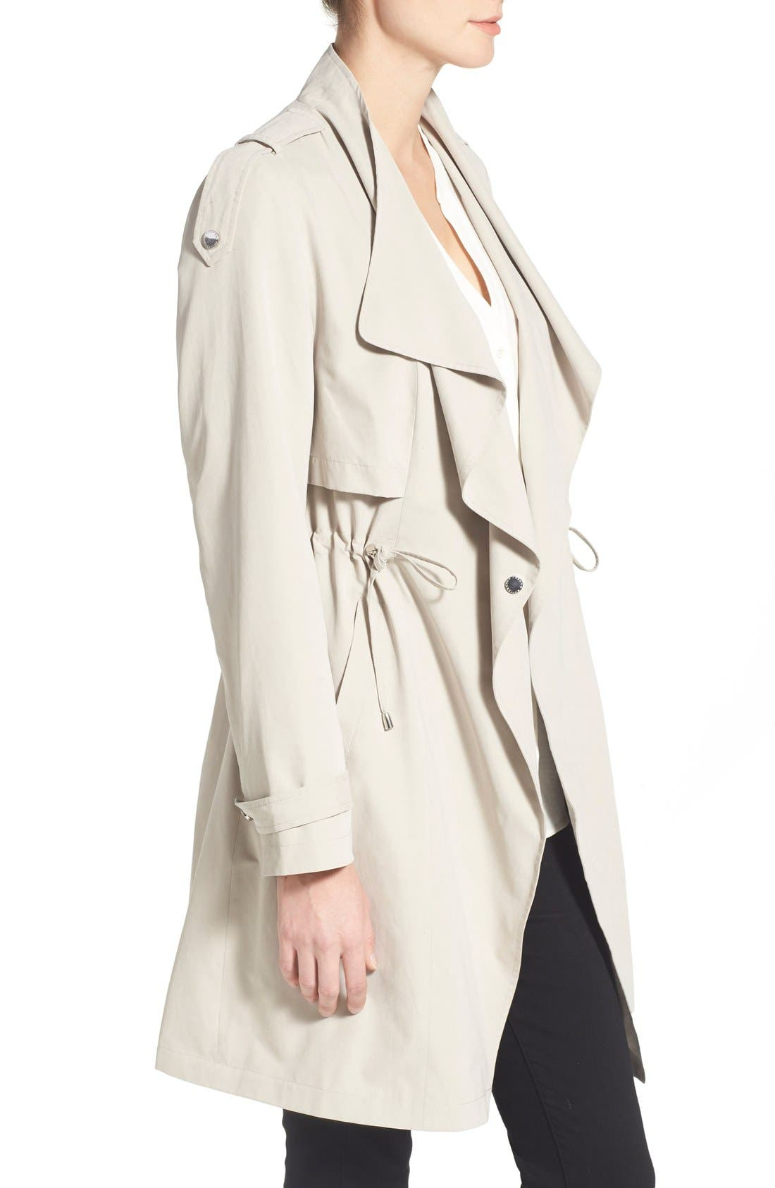 Alternate Image 3  - French Connection Drape Front Trench Coat