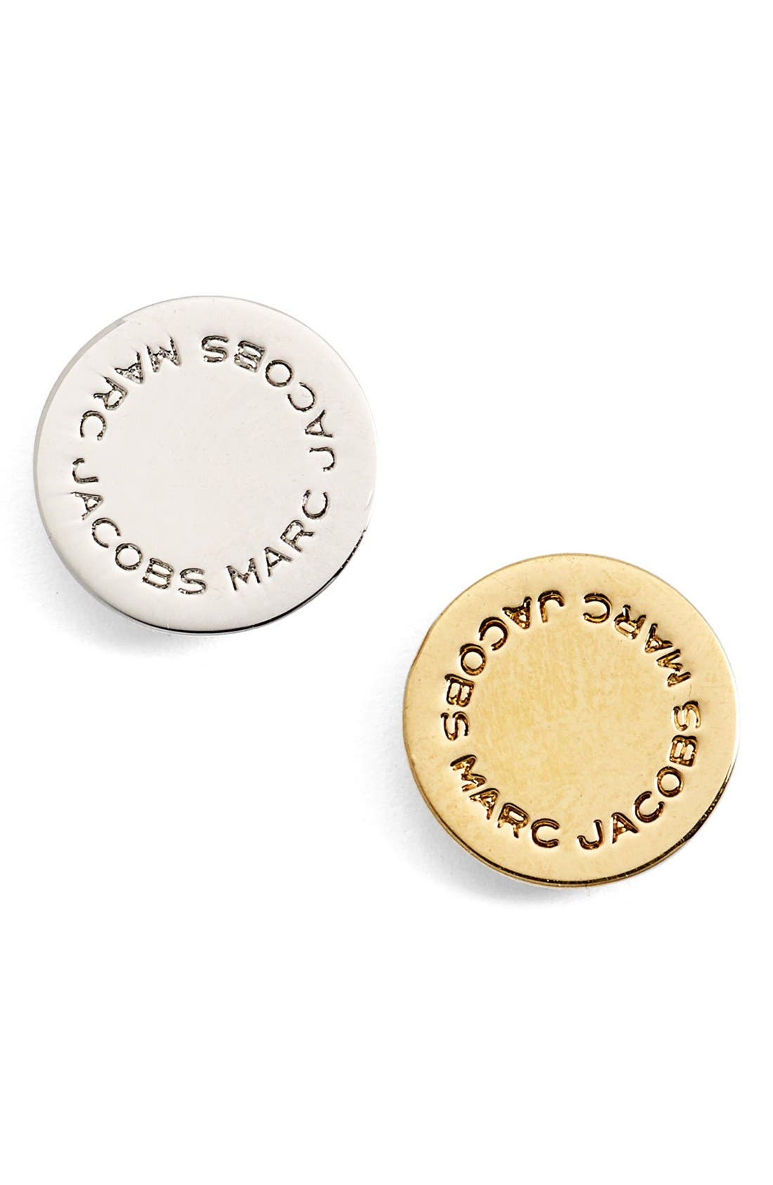 Main Image - MARC JACOBS Mismatched Logo Disc Stud Earrings