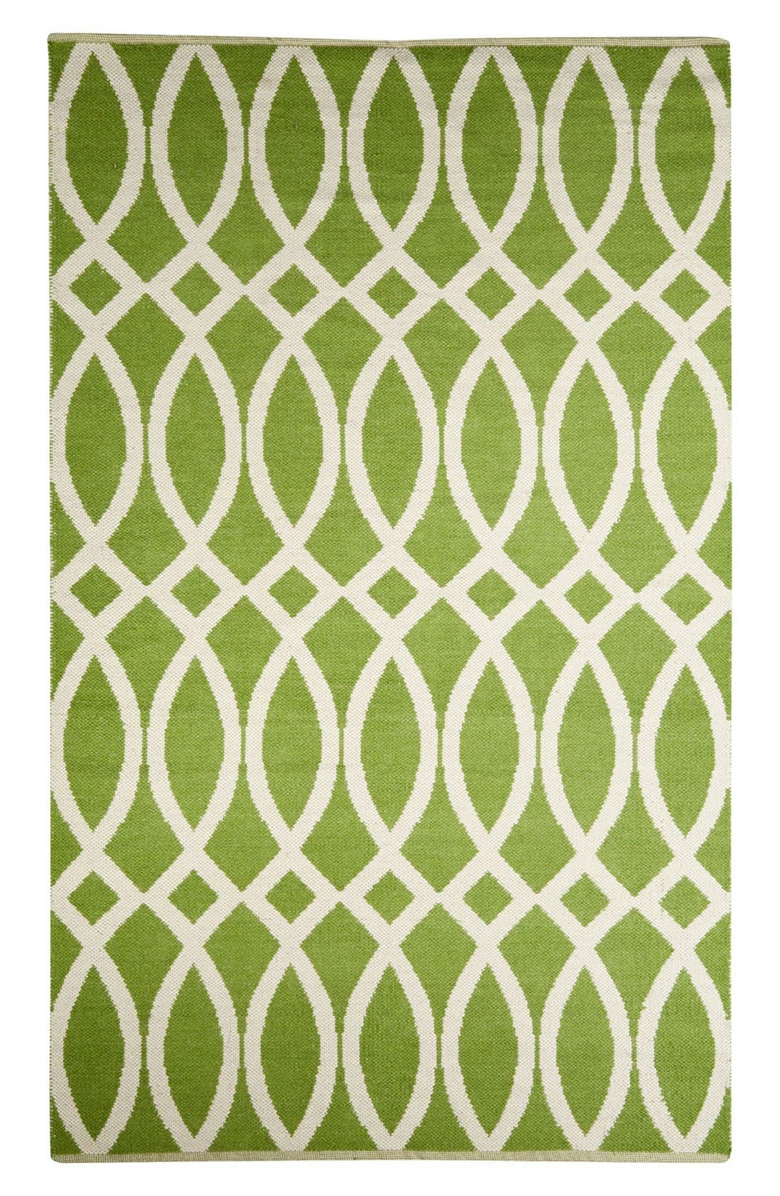 Main Image - kate spade new york 'roosevelt' hand woven reversible wool & cotton rug