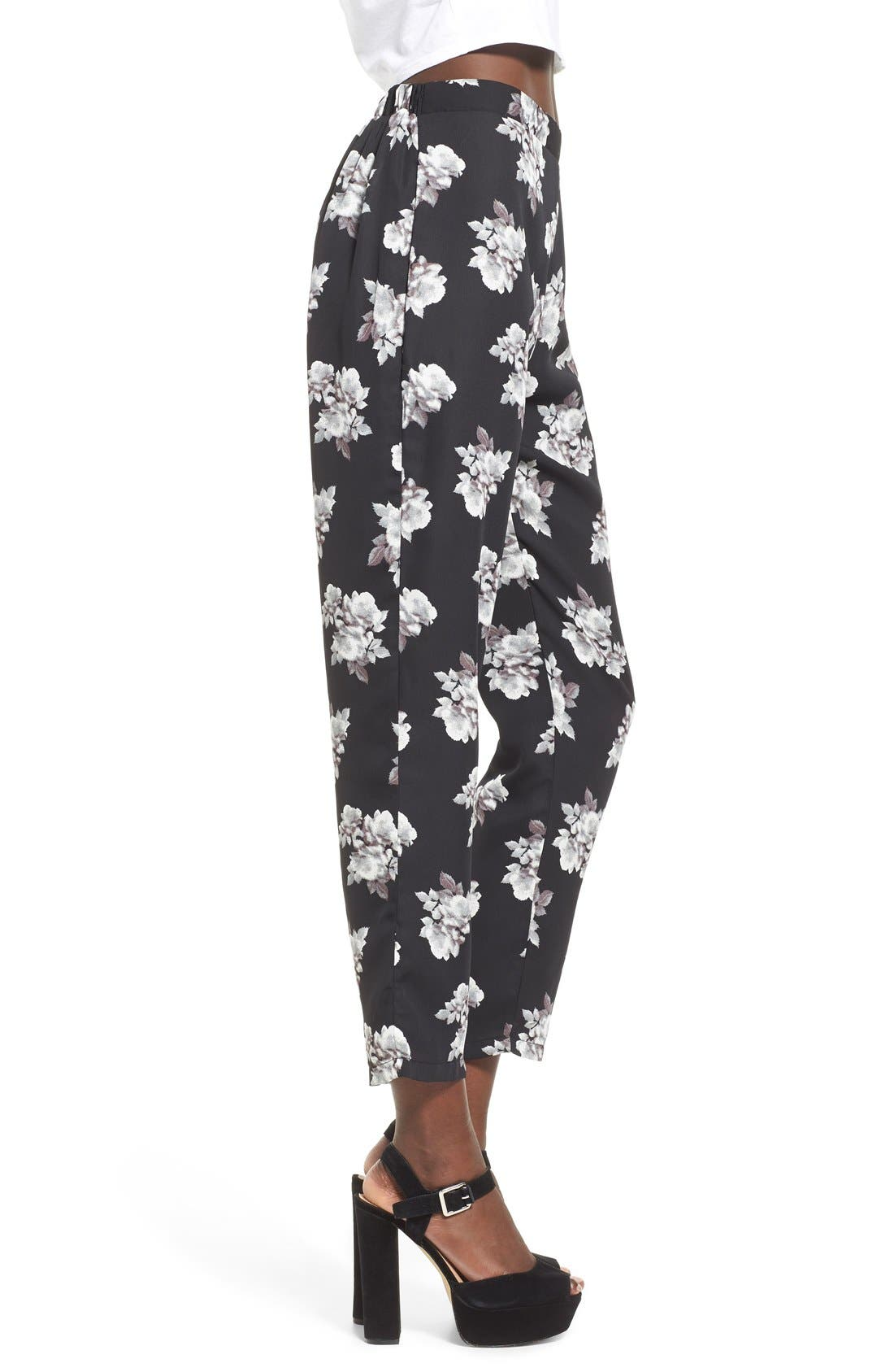 Alternate Image 3  - Leith Floral Print Crop Pants