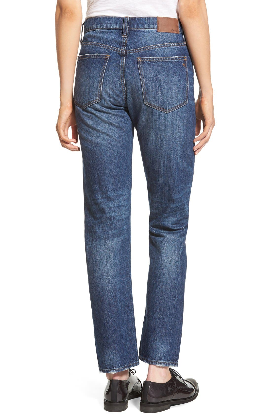 Alternate Image 2  - Madewell Crop Straight Leg Jeans (Preston)