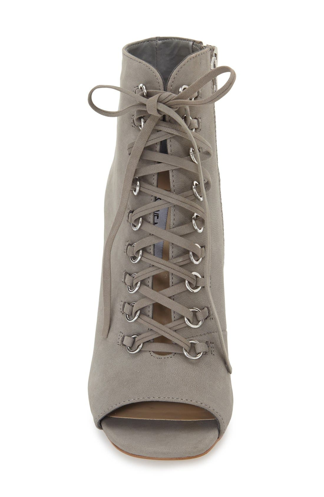 Alternate Image 3  - Steve Madden 'Freemee' Open Top Lace-Up Bootie (Women)