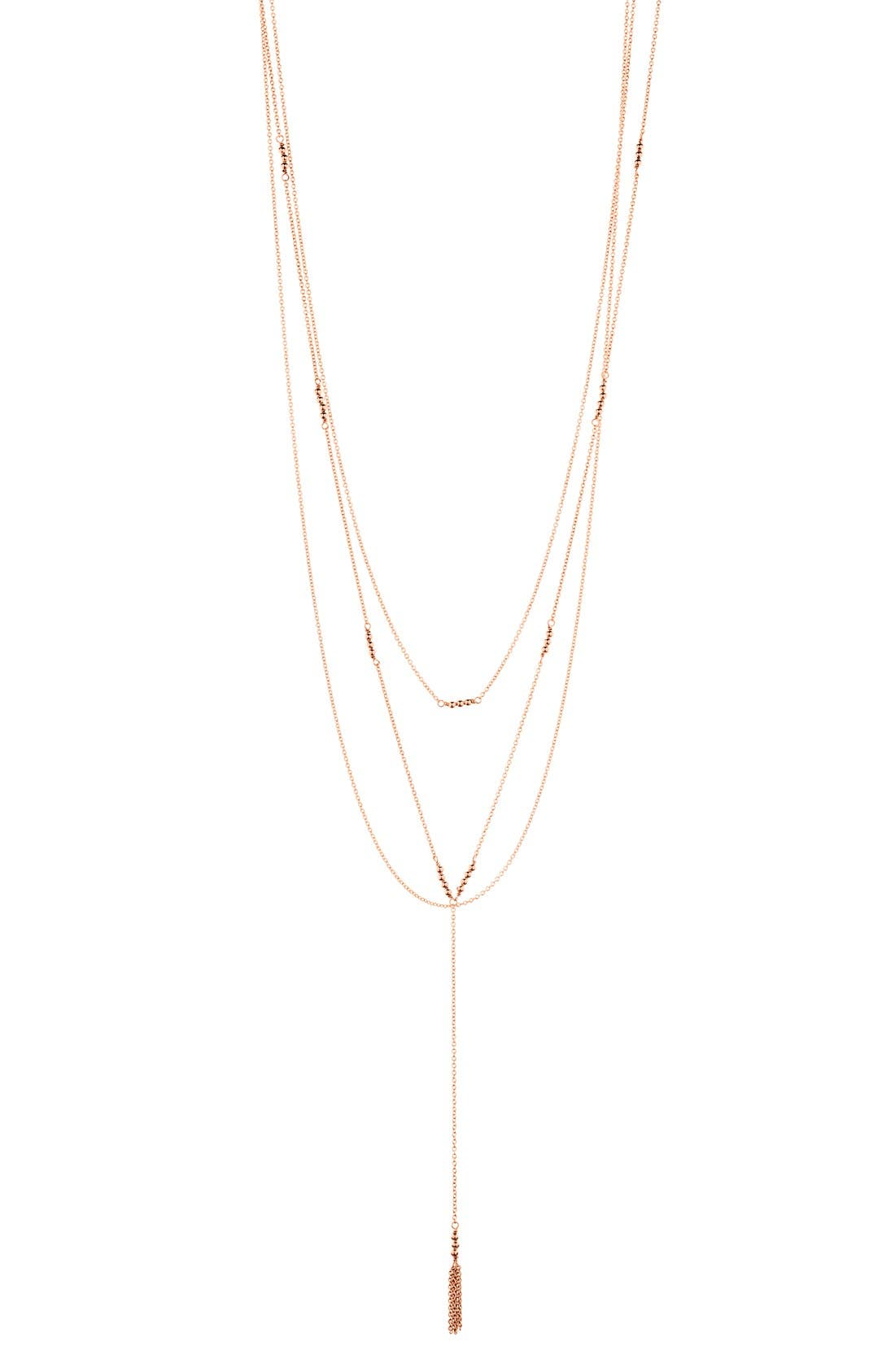 Alternate Image 1 Selected - gorjana Joplin Multistrand Lariat Necklace
