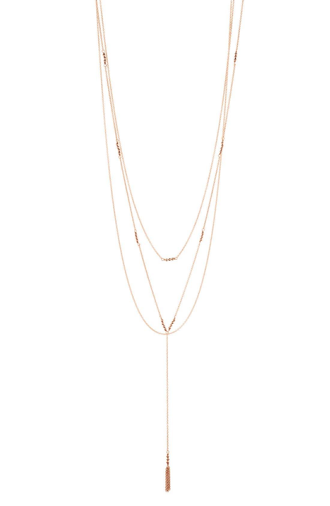 Main Image - gorjana Joplin Multistrand Lariat Necklace