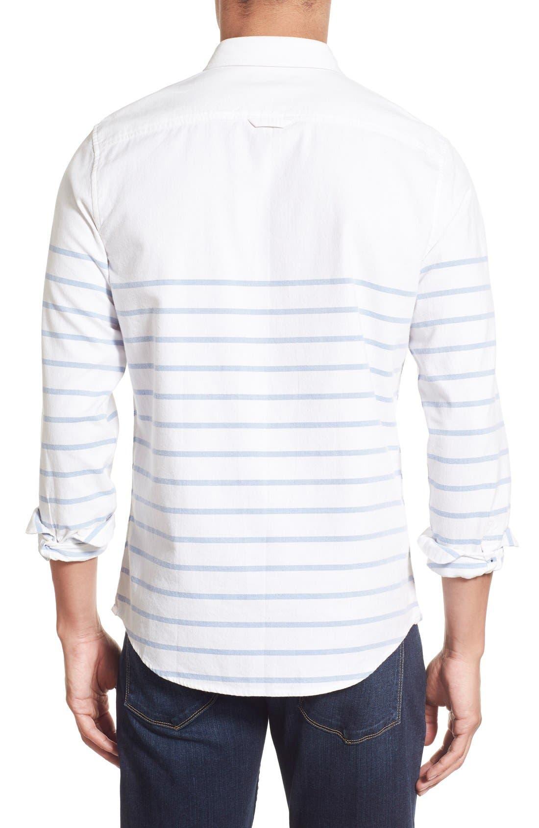 Alternate Image 2  - 1901 'La Conner' Trim Fit Stripe Print Woven Shirt