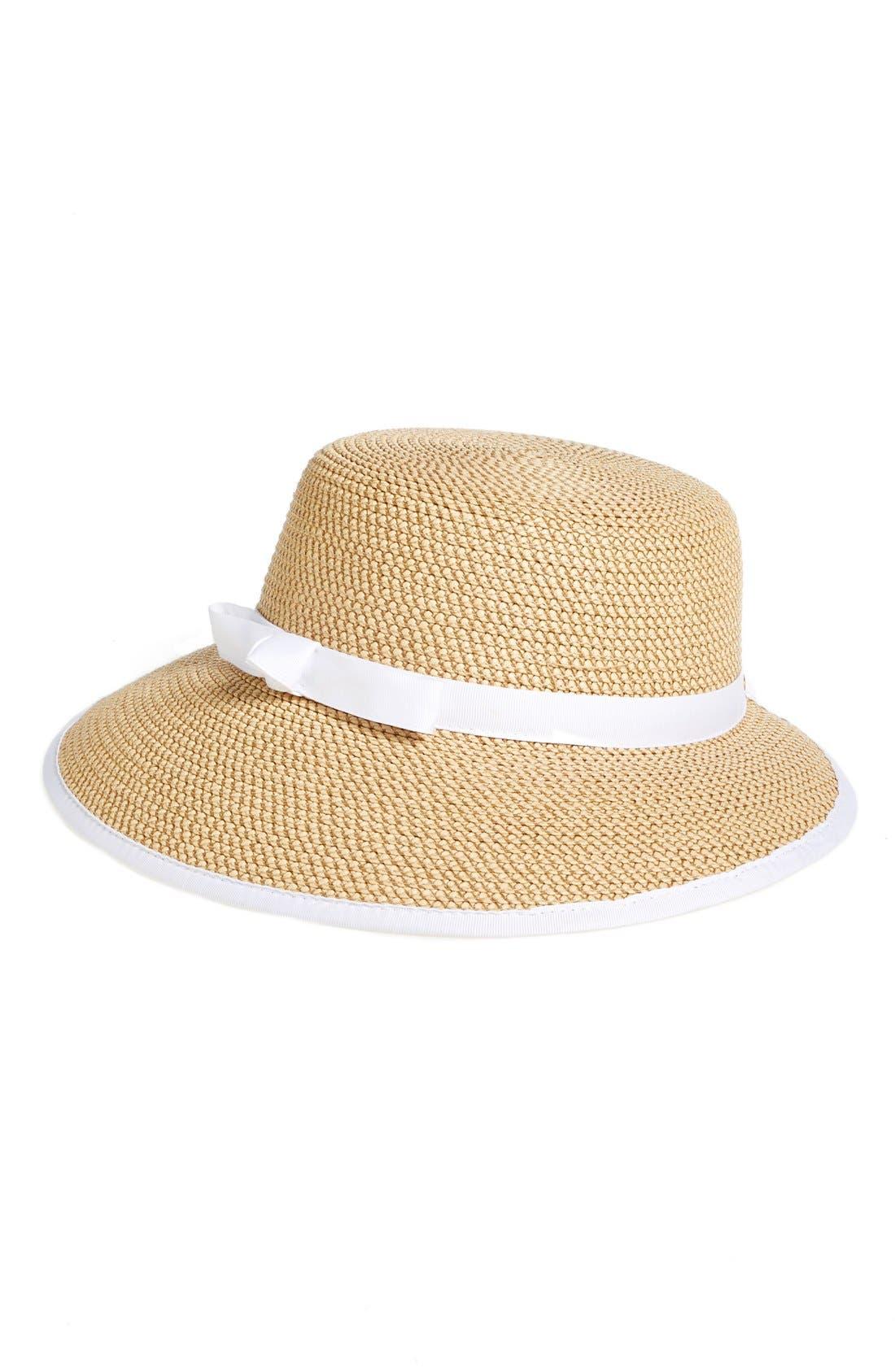Eric Javits Squishee® Straw Cap