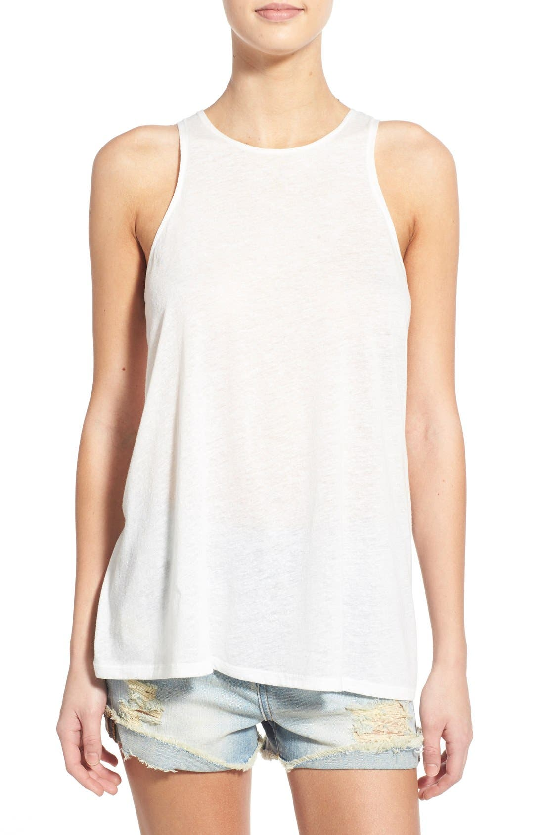 Alternate Image 1 Selected - RVCA High Neck Racerback Tank