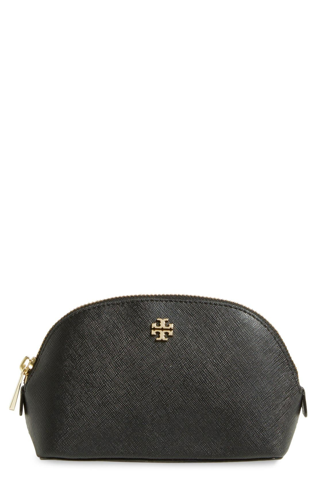 Tory Burch 'Small Robinson' Leather Cosmetics Case