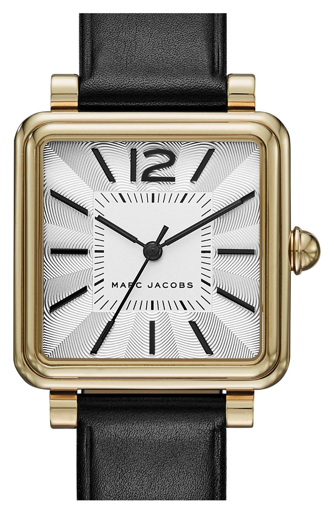 MARC JACOBS 'Vic' Leather Strap Watch, 30mm