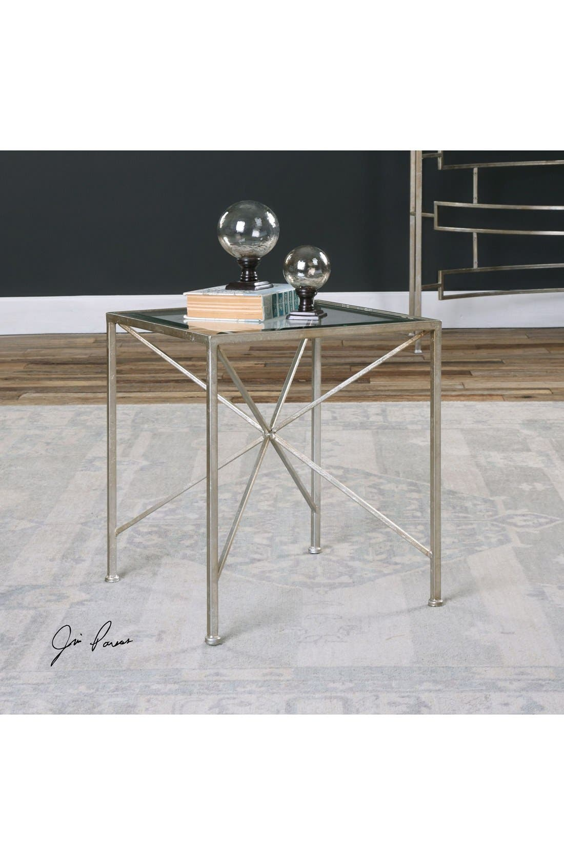 Alternate Image 2  - Uttermost Antiqued Silvertone Cube Table