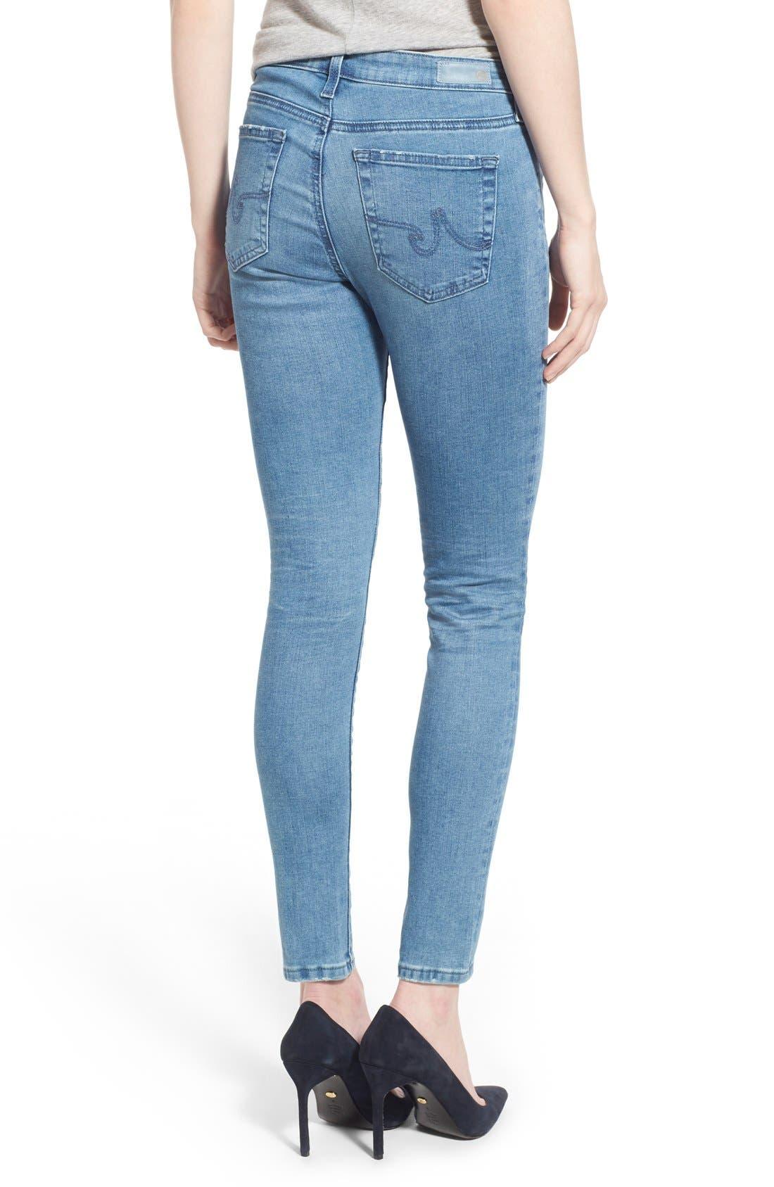Alternate Image 2  - AG 'Middi' Ankle Skinny Jeans (15 Year LiberatingBeat)