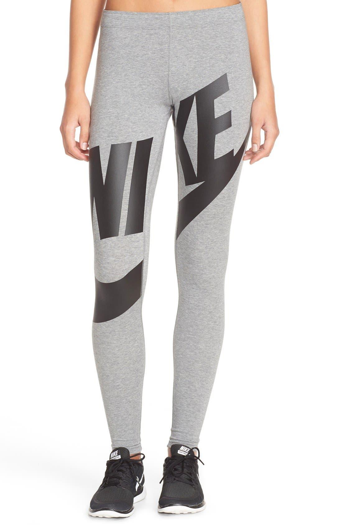 Alternate Image 1 Selected - Nike 'Leg-A-See' Exploded Logo Leggings