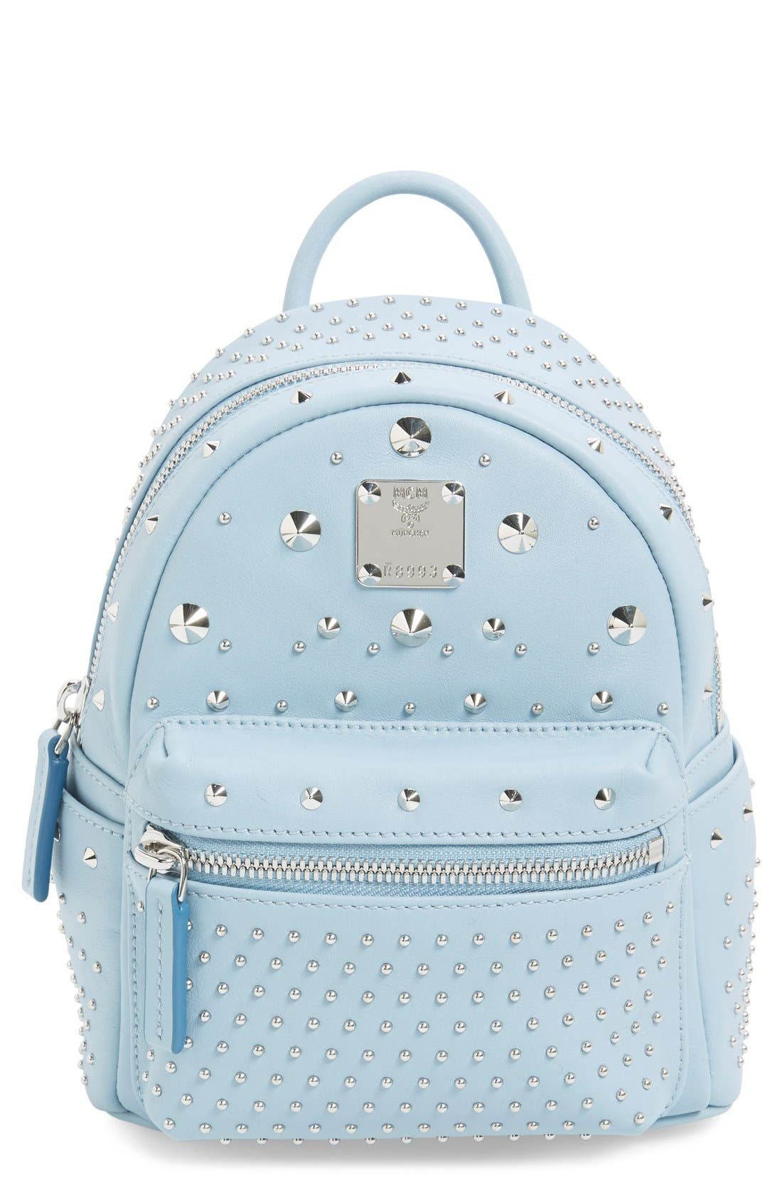 Alternate Image 1 Selected - MCM 'X-Mini Stark - Bebe Boo' Studded Leather Backpack