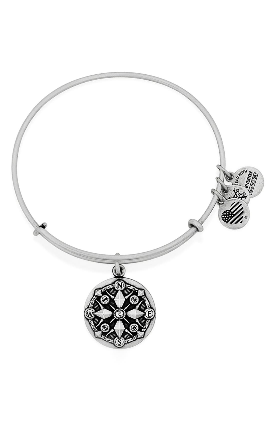 Main Image - Alex and Ani 'Compass' Adjustable Wire Bangle