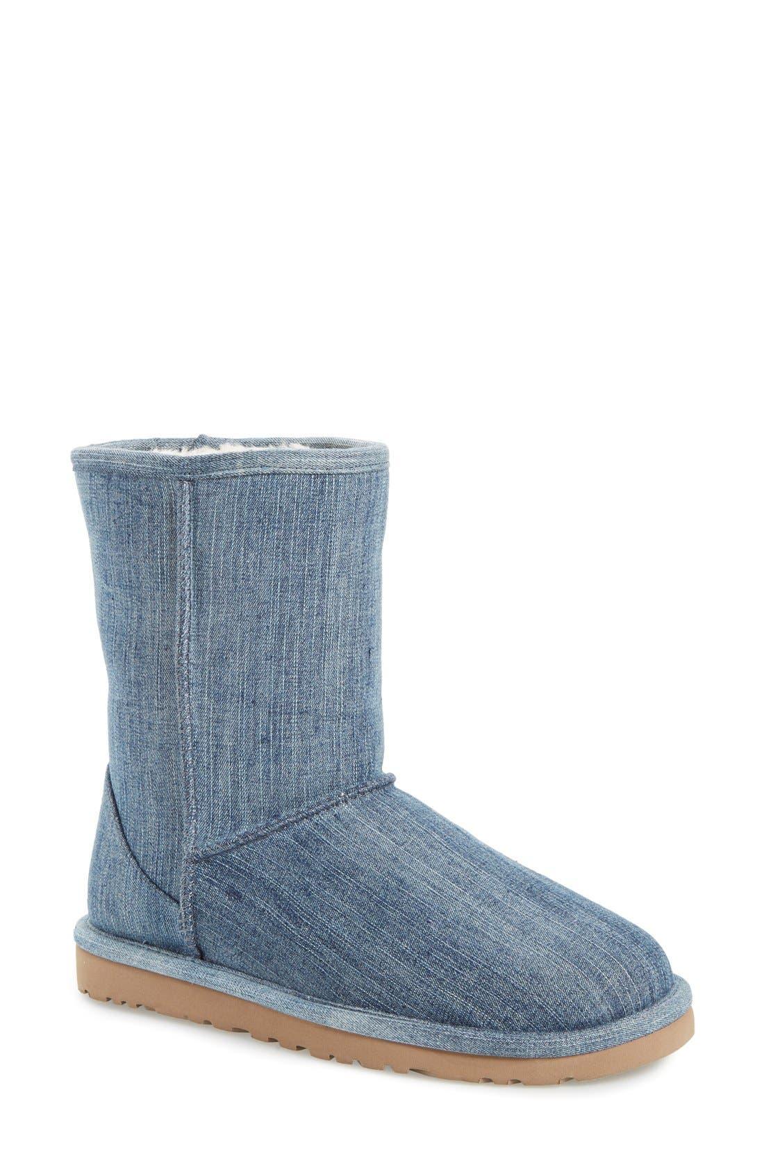 Alternate Image 1 Selected - UGG® 'Classic Short' Denim Boot (Women)