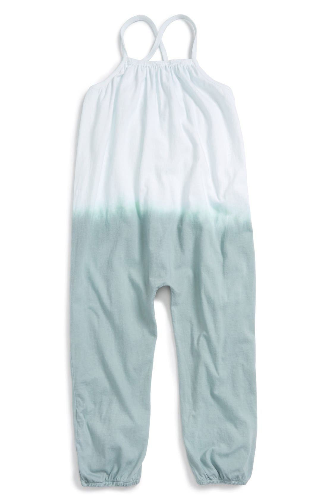 Alternate Image 1 Selected - Burt's Bees Baby Dip Dye Sleeveless Jumpsuit (Toddler Girls & Little Girls)