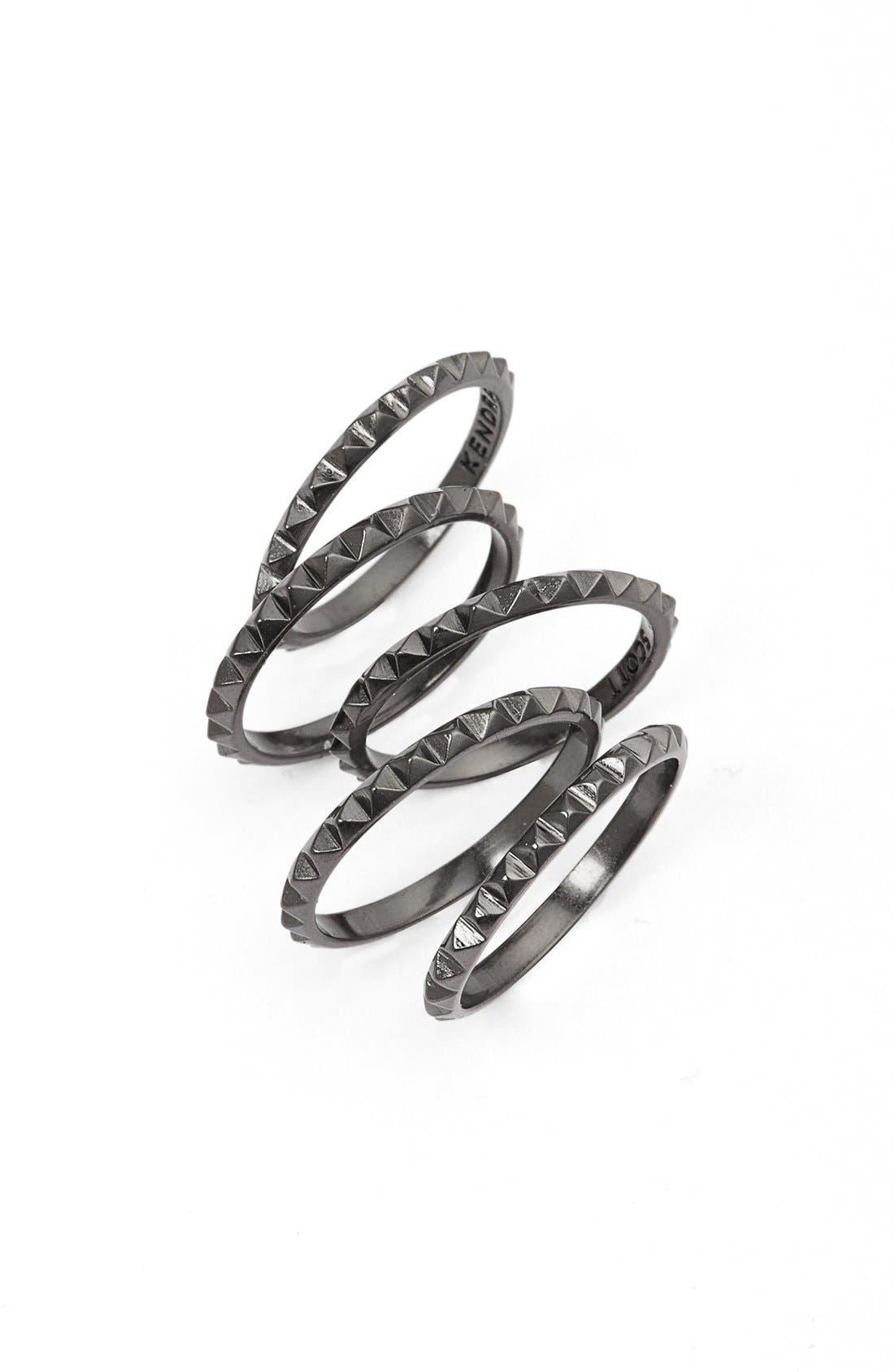 Main Image - Kendra Scott 'Tucker' Stackable Midi Rings (Set of 5)