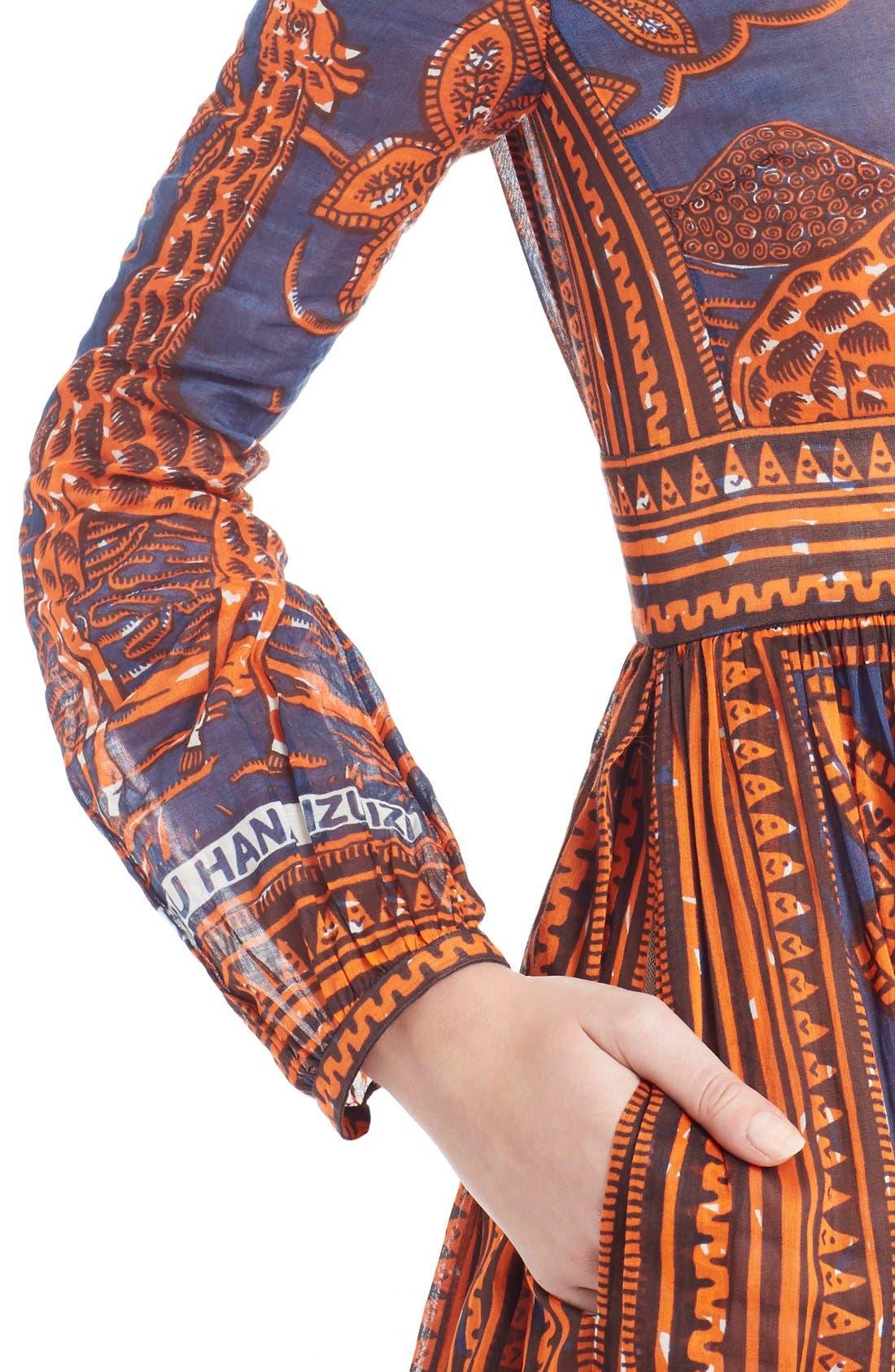 Alternate Image 5  - Valentino Giraffe Print Cotton Gown