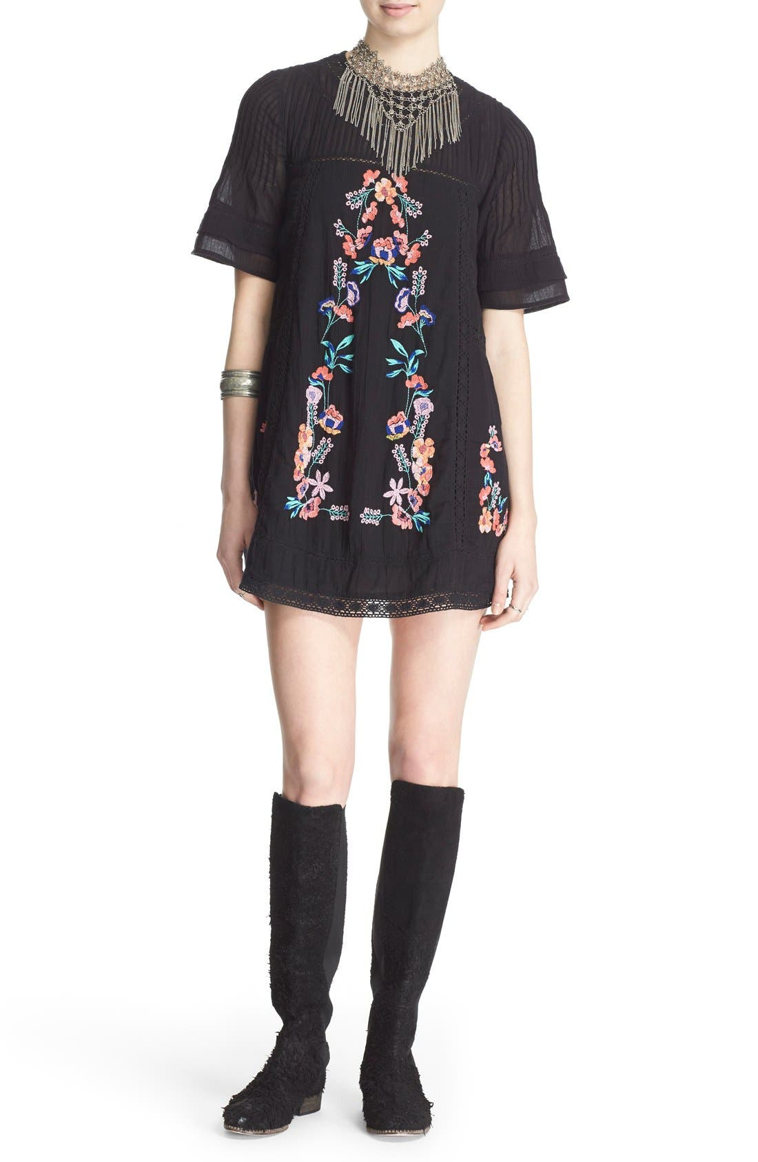 Alternate Image 1 Selected - Free People 'Perfectly Victorian' Minidress