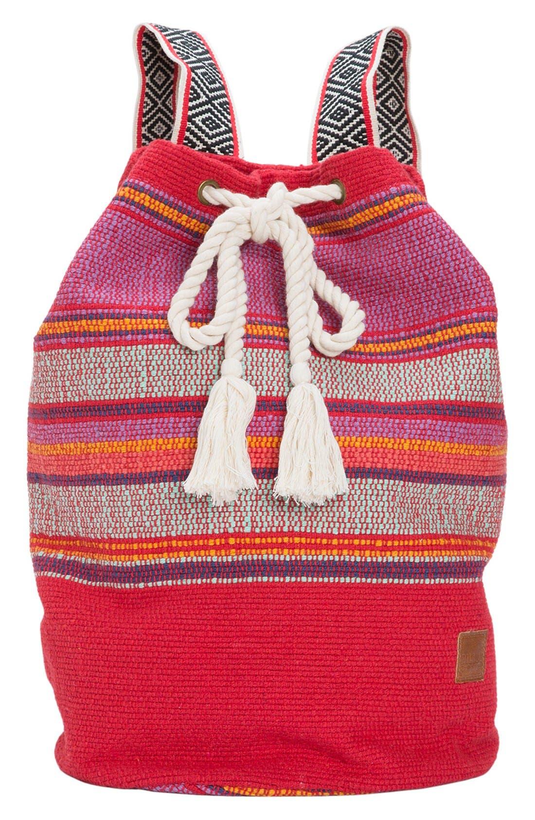Main Image - Billabong 'Bonfire Beachin' Drawstring Backpack