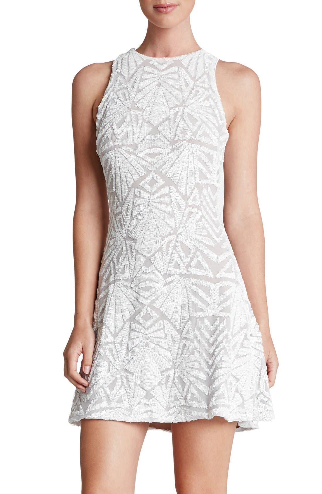 Alternate Image 1 Selected - Dress the Population 'Mia' Sequin Sleeveless Skater Dress