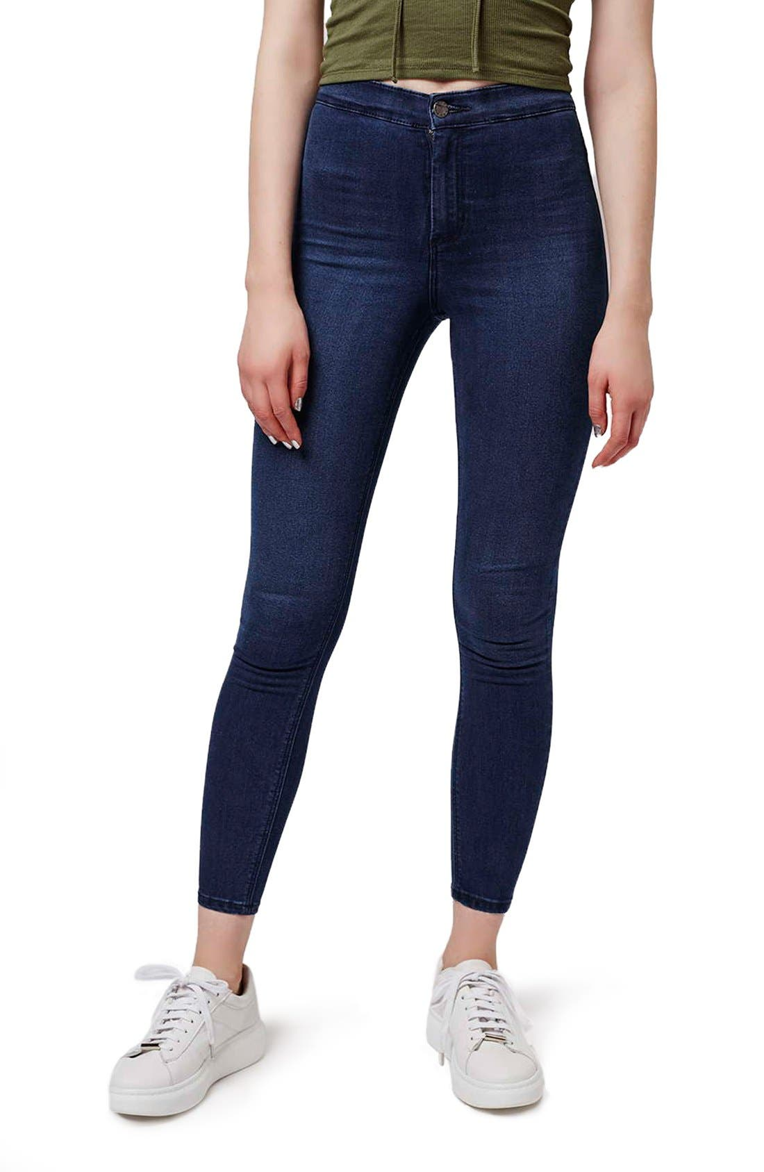 Alternate Image 1 Selected - Topshop 'Joni' Crop Super Skinny Jeans (Petite)