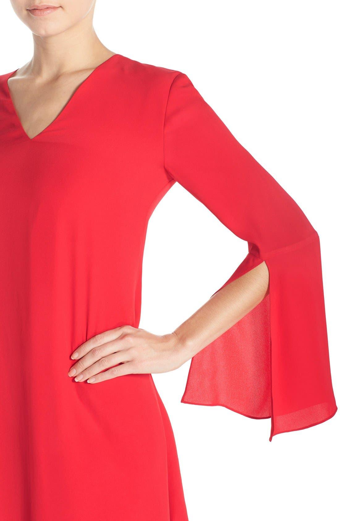 Alternate Image 5  - Chelsea28 Bell Sleeve Chiffon A-Line Dress