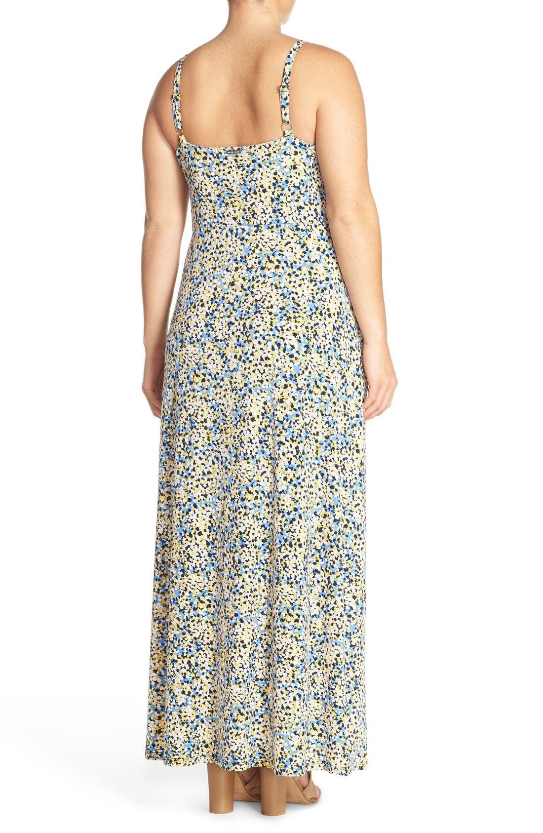 Alternate Image 2  - MICHAEL Michael Kors 'Chiltington' Jersey A-Line Maxi Dress (Plus Size)