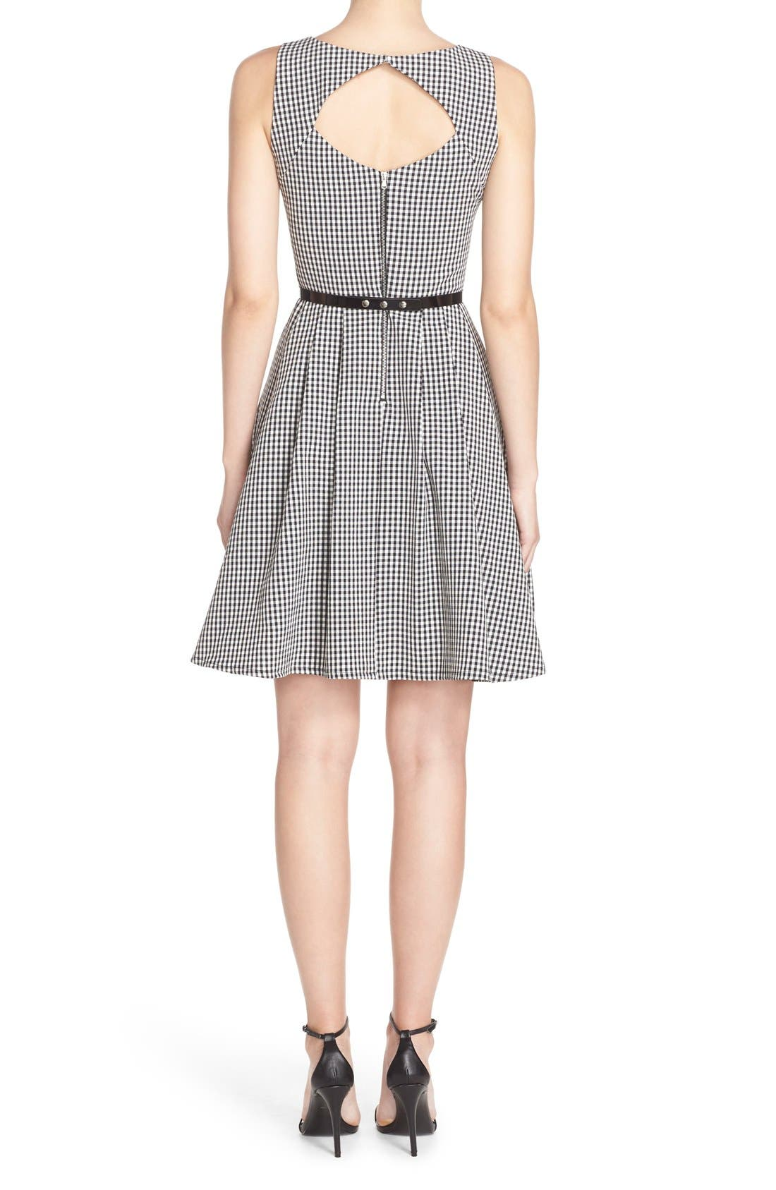 Alternate Image 2  - Gabby Skye Gingham Fit & Flare Dress