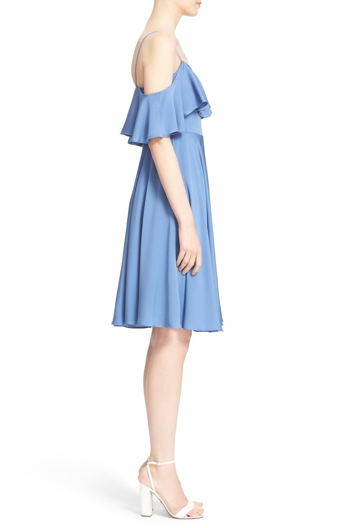 Alternate Image 3  - Milly 'Emmaline' Ruffle Stretch Silk Dress