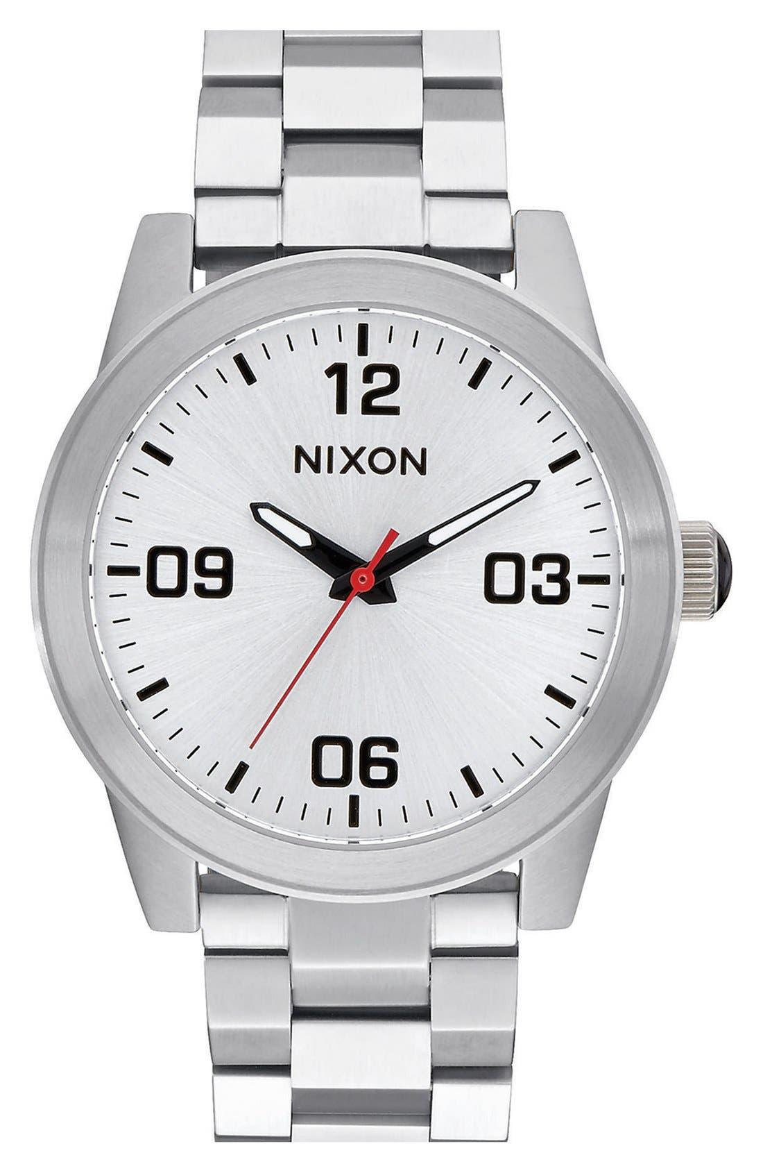 Nixon 'G.I.' Bracelet Watch, 36mm
