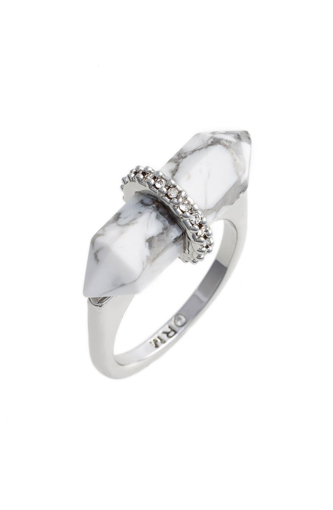 Alternate Image 1 Selected - Rebecca Minkoff Raw Crystal Ring