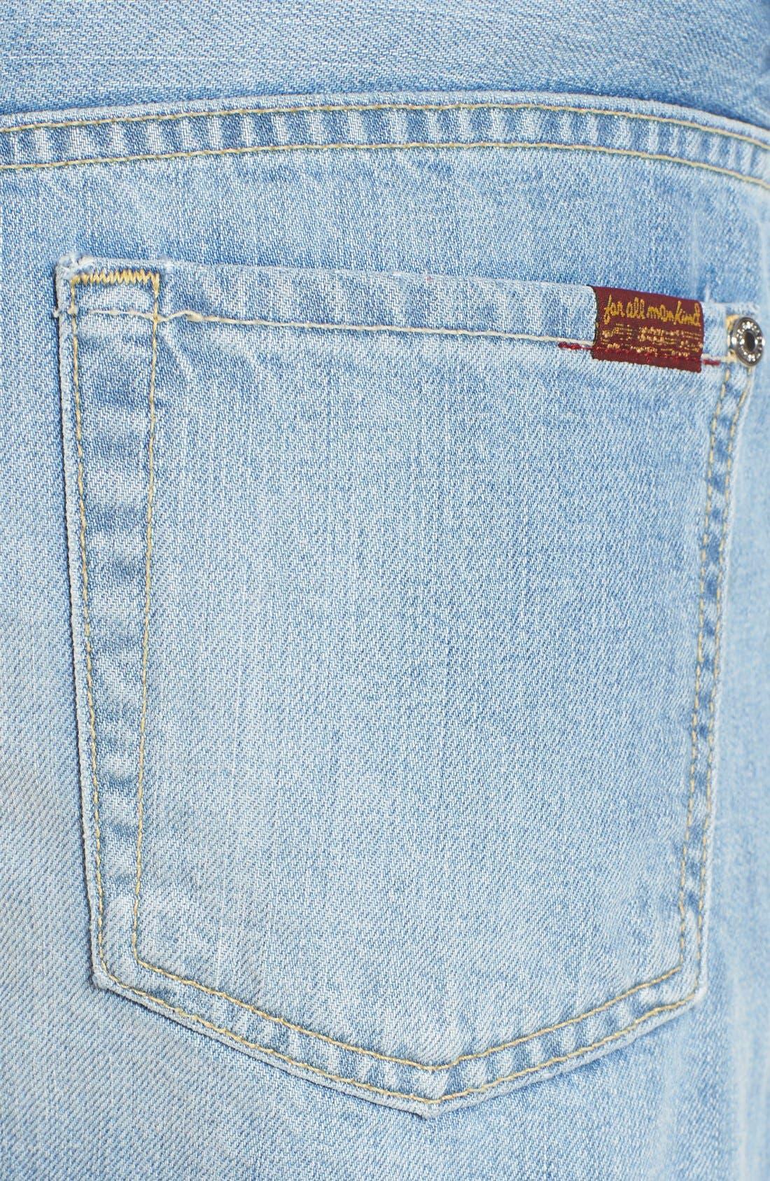 Alternate Image 5  - 7 For All Mankind® High Rise Cutoff Denim Shorts (Vintage Coronado Springs)