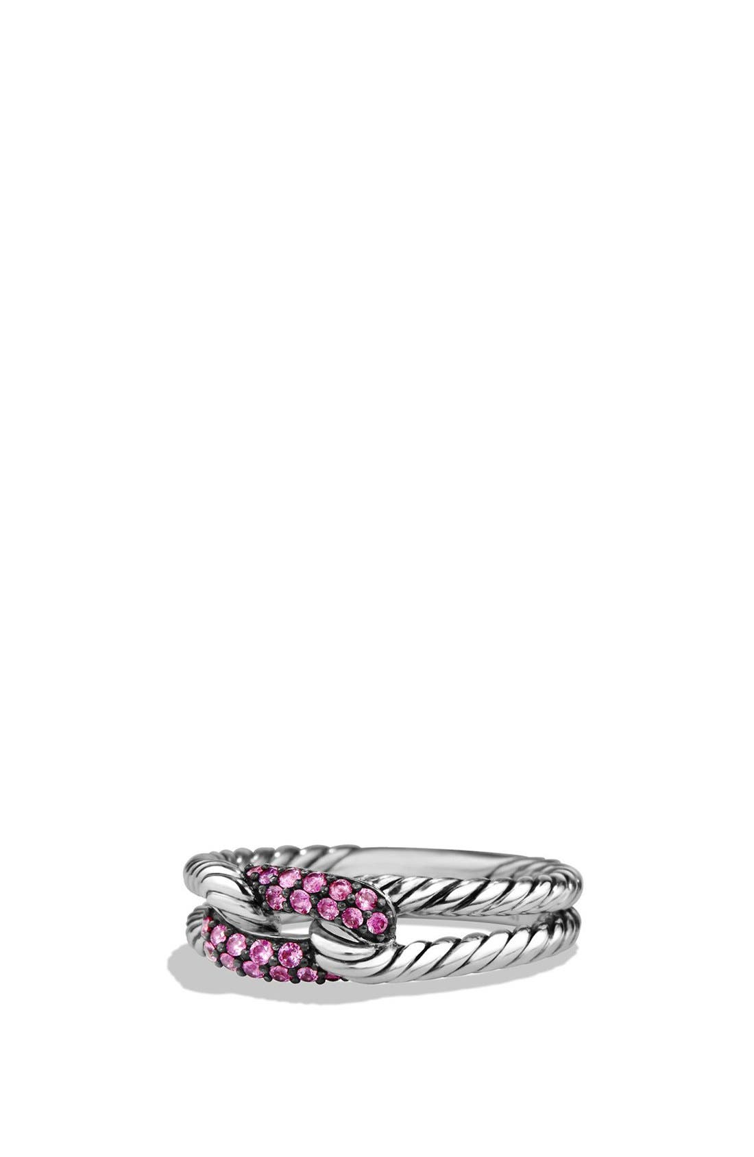 DAVID YURMAN 'Petite Pavé' Loop Ring with Sapphires
