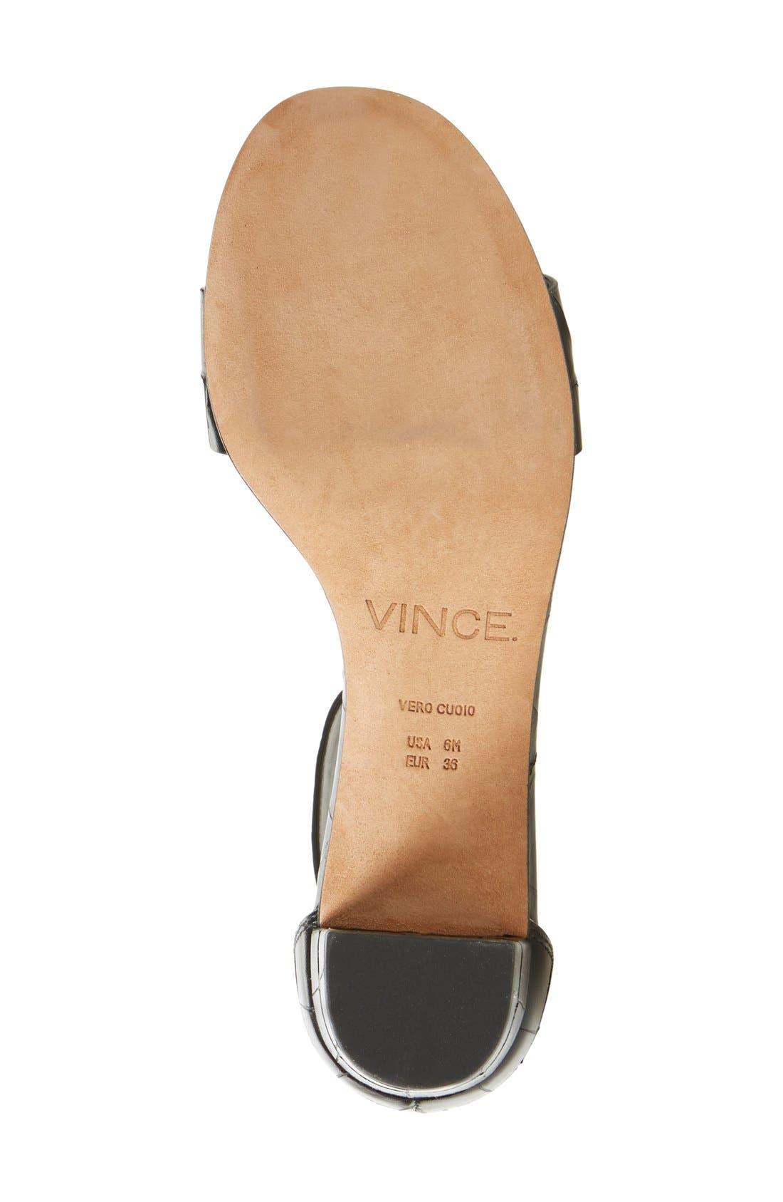 Alternate Image 4  - Vince 'Rita' Leather Ankle Strap Sandal (Women)