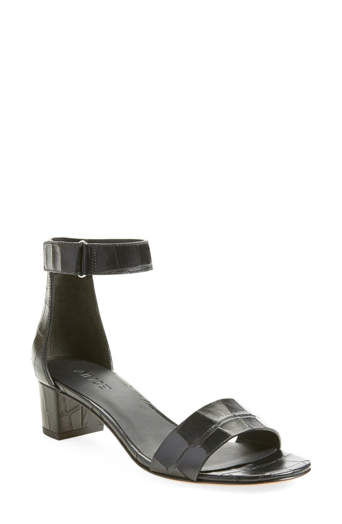 Alternate Image 1 Selected - Vince 'Rita' Leather Ankle Strap Sandal (Women)