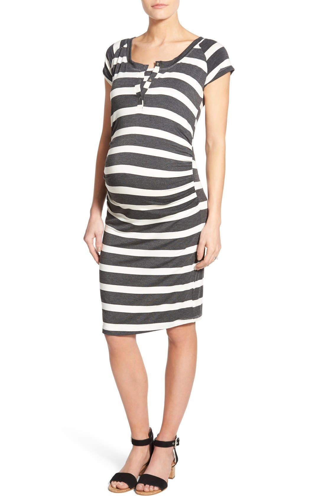 LAB40 'Toni' Maternity/Nursing Midi Dress
