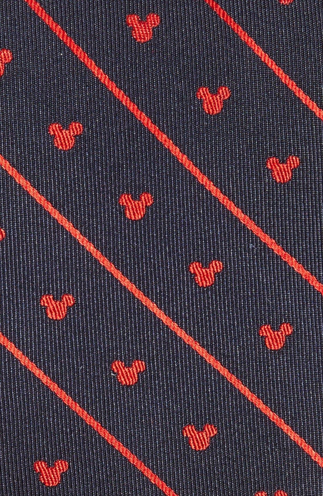 Alternate Image 2  - Cufflinks, Inc. 'Disney - Mickey Mouse Stripe' Silk Tie