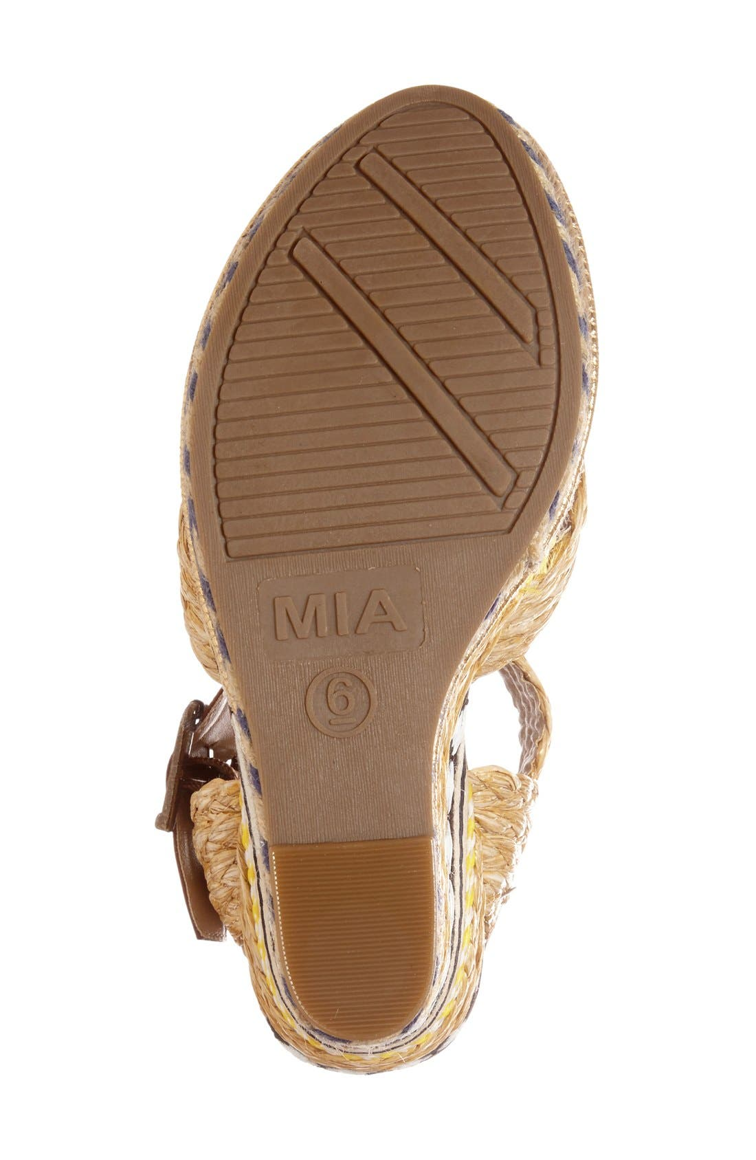Alternate Image 4  - MIA 'Fareena' Platform Wedge Sandal (Women)