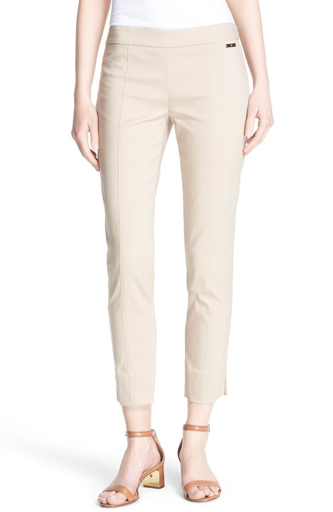 Alternate Image 1 Selected - Tory Burch 'Callie' Seamed Crop Pants